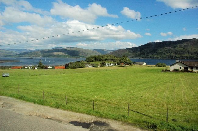 There is a superb view from the double bedrooms in Bruaich Cottage, Lochcarron.