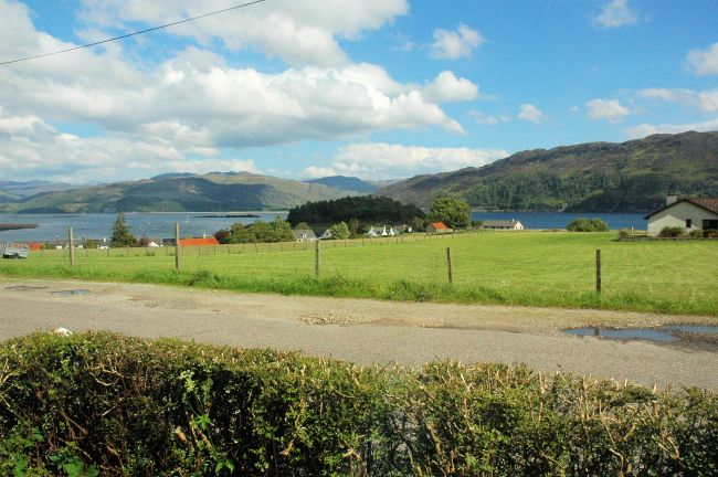 There is a superb view from the sitting room window in Bruaich Cottage, Lochcarron.